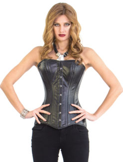 Elvira Black Leather Corset