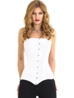 Elvira White Cotton Corset