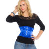 Bella Blue Satin Corset
