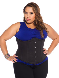 Cotton Black Plus Size Corset
