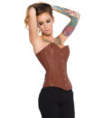 Jenna Brown Leather Corset.