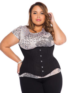 Jolie Black Cotton Plus Size Corset