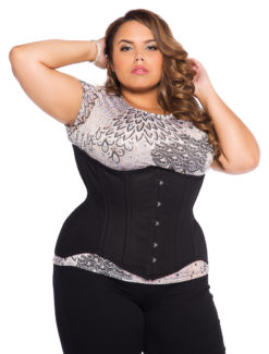 Black Cotton Plus Size Corset