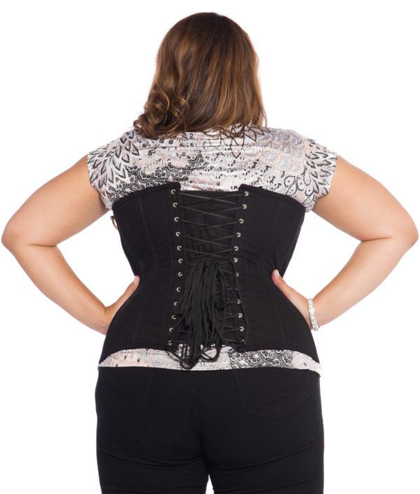 Black Cotton Plus Size Corset