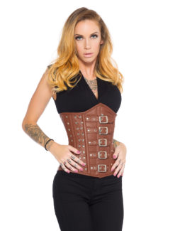 Brown Leather Corset