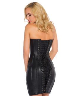 Vestido corsé de cuero negro
