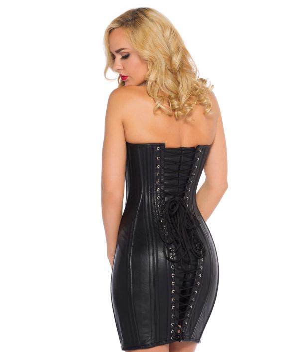 Black Leather Corset Dress