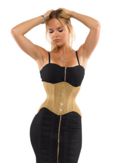 Jolie Short Beige Cotton Corset